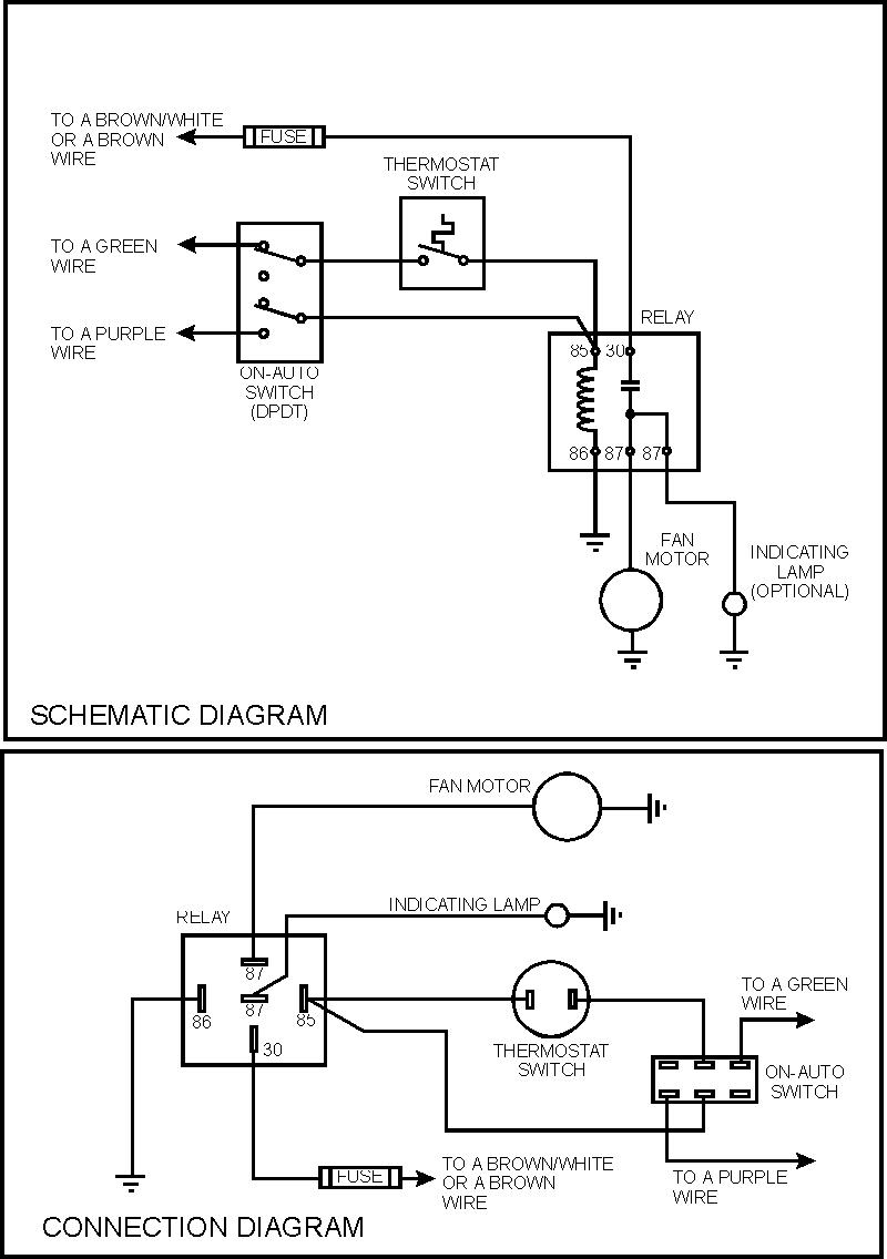 electric fan on a 1974 triumph tr6 fan control center relay and transformer wiring diagram Basic Fan Relay Wiring Diagram